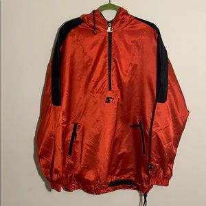 Starter Partial Zip Up Pullover Jacket Size Large